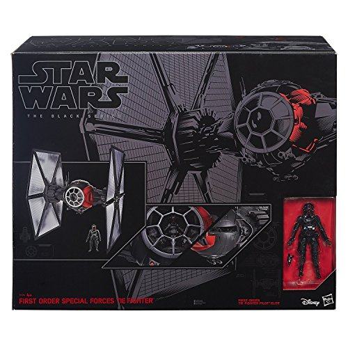Hasbro Star Wars Episode VII The Force Awakens Black Series Deluxe First Order Special Forces Tie Fighter Large Version image