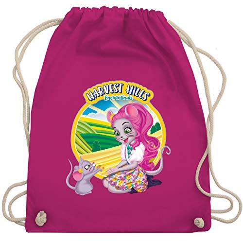 Shirtracer Enchantimals Tasche - Harvest Hills - Mayla Mouse - Unisize - Fuchsia - Enchantimals - WM110 - Turnbeutel und Stoffbeutel aus Baumwolle