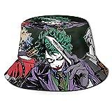 Anime My Hero Academia Sombrero de Pescador Sombrero para el Sol - Protección Ultravioleta y Transpirable Gorra de Cubo de ala Ancha para Exteriores-G2