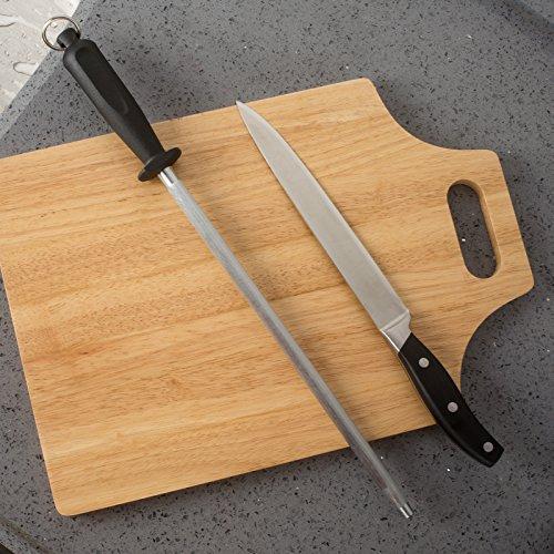 Best Professional Carbon Steel Knife Sharpening Steel, 12 inch