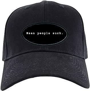 Mean People Suck Black Cap Baseball Hat, Novelty Black Cap