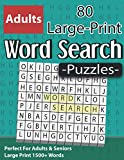 Large Print Word Search Puzzles: Perfect For Adults & Seniors: Wordsearch to Boost Your Brainpower & Perfect Gift For Adults Seniors And More With Solutions ( Volume 4 )