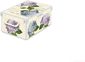 KANGURU Collection Midi Hydrangeas Decorative Storage Box with Handles and lid for Storing Garment, Clothes, Wardrobes, To...