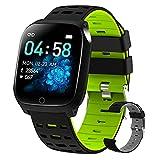 BNMY Smartwatch Reloj Inteligente con Pulsómetro,Calorías,Monitor De Sueño,Podómetro Monitores De Actividad Impermeable IP67 Smartwatch Hombre Reloj Deportivo para Android iOS,Verde