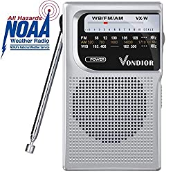 NOAA Weather Radio – Emergency NOAA/AM/FM Battery Operated Portable...
