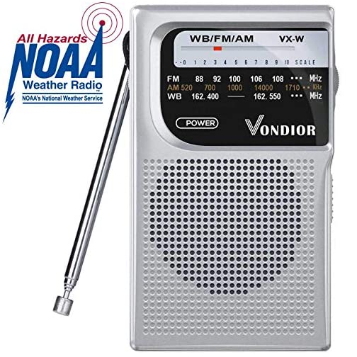 NOAA Weather Radio - Emergency NOAA/AM/FM Battery Operated Portable Radio with Best Reception and Longest Lasting… 3
