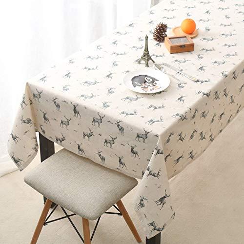 Arte de tela de algodón y lino de ropa de cama para ropa de mesa de mesa de mesa de mesa rectangular mesa de mesa mantel mantel desechable plástico floral mantel toallito limpio beige 140 * 180 cm Man