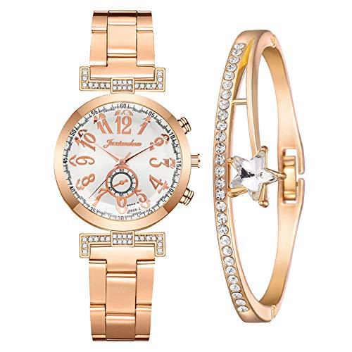 GreatestPAK Damen Quarzuhr Business Casual Mit Armbändern Schmuck Geschenkkombination Damenaccessoires