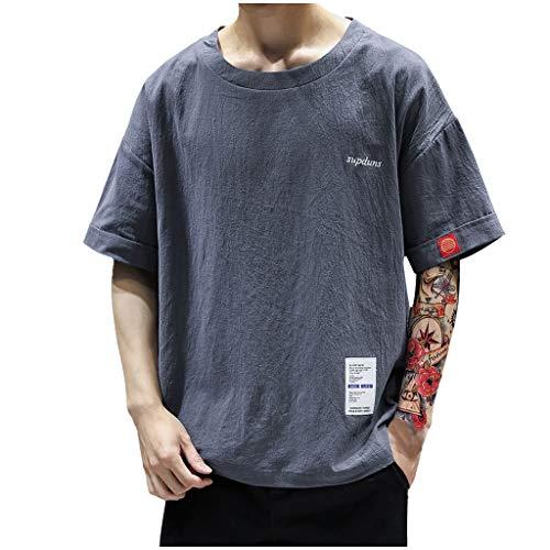 Sylar Camiseta para Hombre Camisetas Hombre Manga Corta Camisetas Hombre Originales Camiseta Blusa Tops De Mezcla De Algodón Cuello Redondo