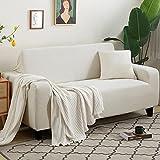 Funda Cubre Sofá,Granos de maíz blanco Juegos de sofás Con funda de almohada Alta elasticidad Fundas decorativas Puede usarse como 1 2 3 4 Plazas prueba de polvo Anti arruga(Size:2 Seater,Color:GRAMO)