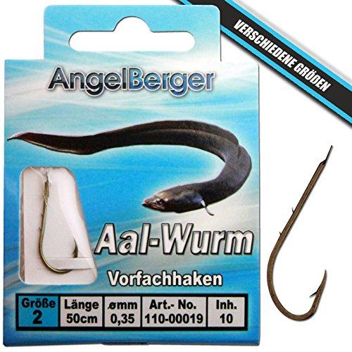 Angel-Berger Vorfachhaken gebundene Haken (Aal/Wurm, Gr.6 0.30mm)