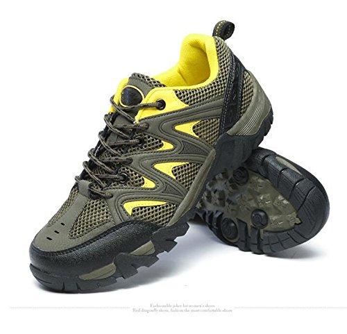 Z&HX sportsChaussures de Randonn¨¦e Coupe-Vent Respirant Antid¨¦Rapant Anti-Rayures Chaussures en Plein air p¨ºche, Army Green, 41