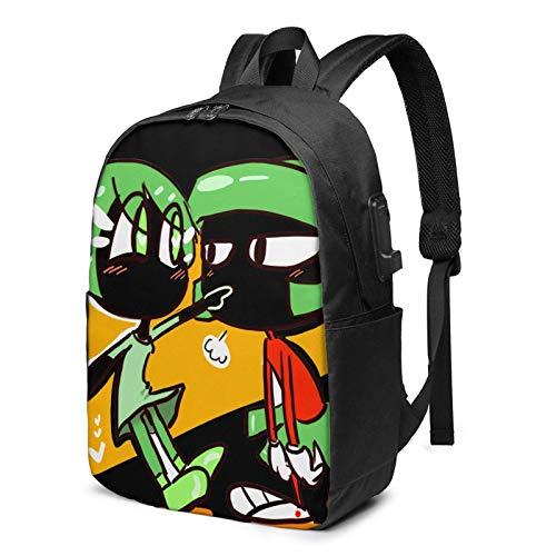 IUBBKI Bolsa para computadora mochila USB Men Women Packable Backpack with USB Charging Port, anti theft convertible SchoolBag, Rucksack Daypack for Outdoor Gym School, Cartoons Anime Mar-vin The Mar-