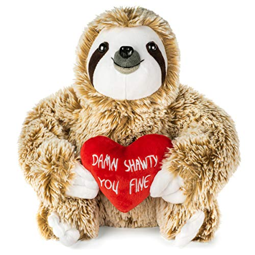 Valentines Day Stuffed Animals - Girlfriend Gifts - Shawty You Fine - Valentine Sloth Bear for Her - Cute Funny Vday Gifts for Boyfriend