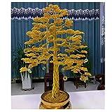 RKRGQ Home Feng Shui Árbol De Dinero Olla De Lingotes De Oro Suerte De Riqueza para La Sala De Estar En Casa Dormitorio Oficina 17.7x23.6inch Árbol de la Suerte