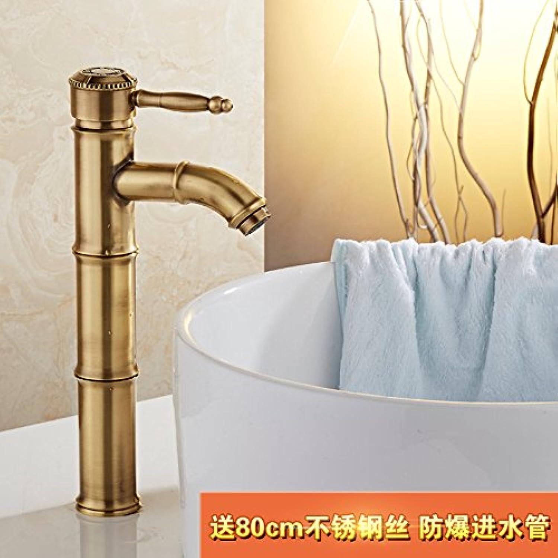 SADASD Contemporary Bathroom Bathroom Bathroom Full Copper Basin Faucet Bend Water Nozzle High-Basin Sink Mixer Tap Ceramic Valve Single Hole Single Handle Cold Water With G1 2 Hose b60a3b