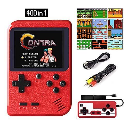 Hanbee Consola de Juegos Portátil, 400 Juegos Retro 3 Pulga
