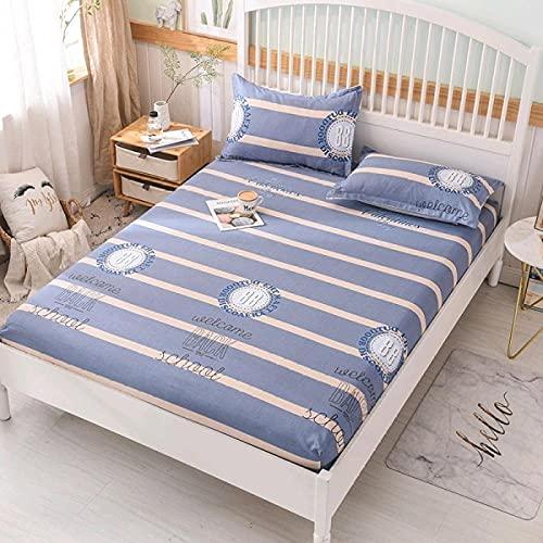 CYYyang Protector de colchón Transpirable.Rizo Bambú. Sábana de algodón Antideslizante Producto individual-13_135x200cm