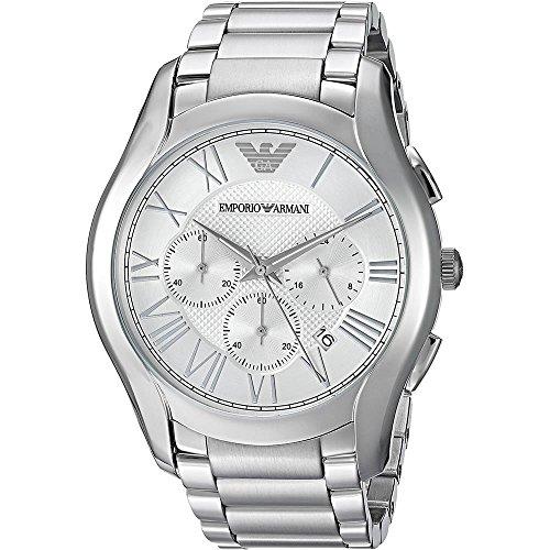 Emporio Armani Herren Chronograph Quarz Uhr mit Edelstahl Armband AR11081