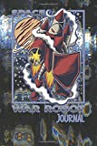 War robot Journal: Small notebook for gamers, RPG, hex art, hex map, hex grid battle maps, strategy maps, retro game fans and fantasy role playing - ... on computer glitch background cover art