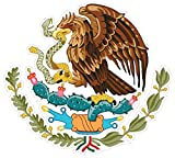 (5 Pack!) Mexican Coat of Arms Sticker Decal Mexico Flag Car Truck Vinyl 4' x 3.75'