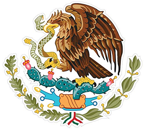 Eichelman Designs (5 Pack!) Mexican Coat of Arms Sticker Decal Mexico Flag Car Truck Vinyl 4