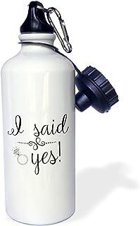 White 3dRose wb/_310755/_2 Water Bottle 21oz