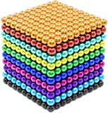 1000 Pieces 5 Millimeter M-agnets Balls Building Game Building Blocks Toys for Intelligence Learning Development and Creative Educational Toy, Office Desk Toy & Stress Relief - Colorful