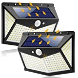 212 LED Solar Security Lights Outdoor, Upgraded Solar Motion Sensor Wall Lights 300° Beam Angle 3 Lighting Modes IP65 Waterproof Solar Powered Lights for Garden 2-Pack