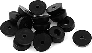 uxcell 16pcs Rubber Furniture Feet Mats Chair Leg Tips Covers Black 0.2 inches High