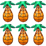 6 Pieces Inflatable Palm Tree Blow Up Palm Trees for Luau Party Decor, 14.5 Inch Inflatable...