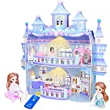 KAINSY Casa de Muñecas, Casa de Muñecas para Niñas con Accesorios y mobiliario Muñecas, 2 Pisos