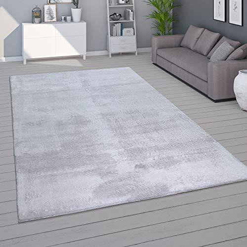 Tappeto per Soggiorno Unicolore Lavabile Morbido Pelo Corto Morbido, Dimensione:120x170 cm, Colore:Grigio