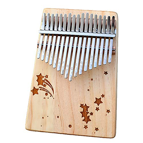 Kalimba 17 Tasten Thumb Piano-Tragbarer Fingerring Piano,Mbira-Klavier Mit Studienunterricht Und Tune-Hammer,Für Kinder Erwachsene Anfänger-Tastatur-Instrument,18cmX 17 tone E7