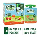 Gogo Squeez Apple Peach Puree Pouches Multipack 4x90g (Pack of 5)