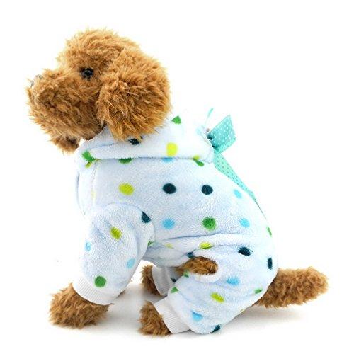 ranphy Pijama, mono, para perro pequeño, cachorro, colorido, lunares, cuatro patas