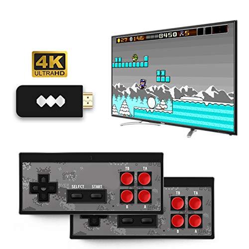 hooks Consola De Juegos Retro, Consola de Videojuegos 4K HDMI 568 Juegos clásicos incorporados, Videojuegos Plug and Play, Mini Consola Retro Controlador de Gamepad portátil USB