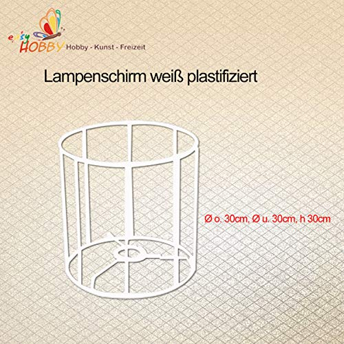 SMITS Lampenschirmgestell, weiß plastifiziert, Ø o. 30cm, Ø u. 30cm, h 30cm
