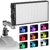 PIXEL RGBビデオライト撮影ライト 照明ライト 充電式ポケットサイズ 2500K-8500K Type-C充電 動画撮影、生放送、ライブ、YouTube、自撮り、ビデオチャット、ビデオ録画