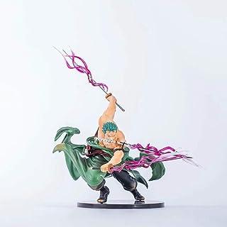 LIUXIN ワンピース玩具像ロロノア・ゾロアニメモデルpvc静的キャラクター像工芸品コレクション-18センチ おもちゃの像