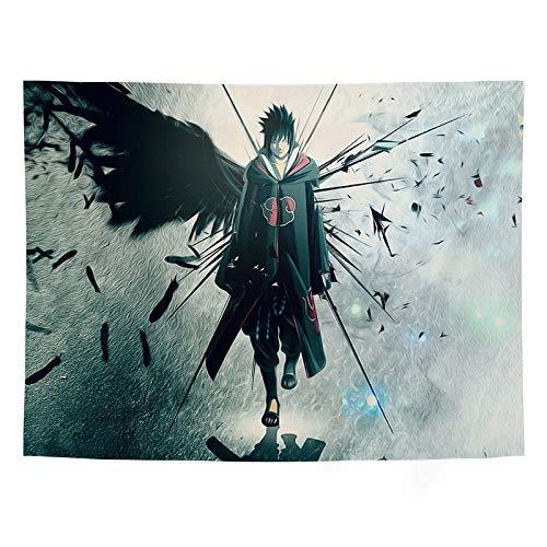Big Tapestry Japan Anime NARUTO Uchiha Sasuke Wall Hanging Decor Curtains Long Table Cover for Boys Bedroom Anime Themed Party-GT1033_200*150