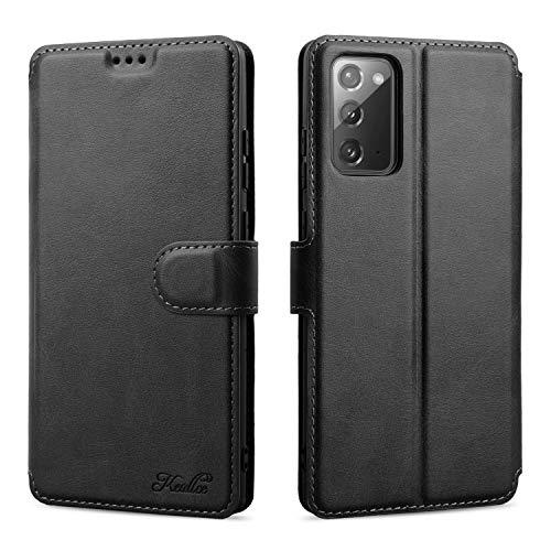 Keallce für Samsung Galaxy Note 20 hülle, Handy lederhülle pu Leder hülle Brieftasche Handytasche Cover kompatibel für Samsung Galaxy note20 Ledertasche, 6.7 inch, schwarz
