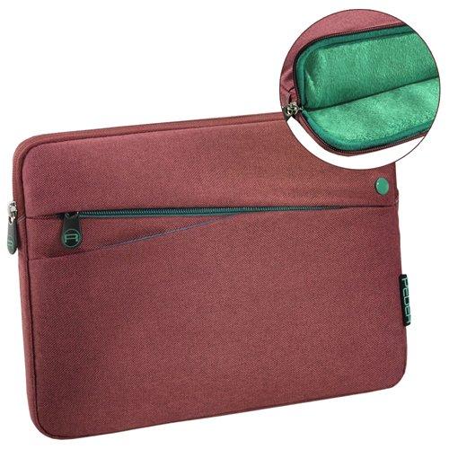 Pedea Tablet PC Tasche Fashion für 10,1-11 Zoll (25,6-27,96 cm) Schutzhülle Etui Case mit Zubehörfach, rot