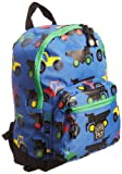 Pick & Packs, zaino, motivo: trattori Unisex, bambino, Blu (Blue), Taglia unica