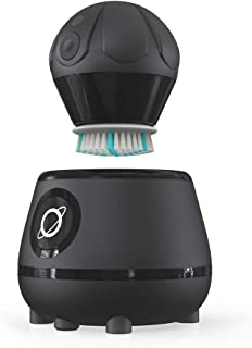 TAO Clean Orbital Facial Brush and Cleansing Station – Deep Space Black – Electric Face Cleansing Brush with Patented Docking Technology, Ergonomic Handle, Dual Speed Settings