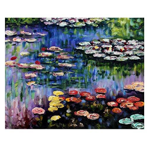 Cuadro Lienzo, Impresion Digital - El Estanque con Nenufares Claude Monet, cm. 80x100 - Decoracion Pared