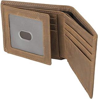 Neumora Men's Leather Wallet with RFID Blocking, 10 Cards Holder, Minimalist Slim Wallet ID Wallet (Brown)