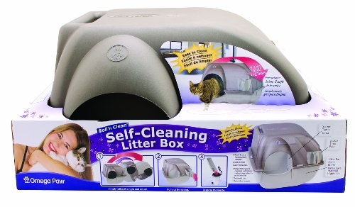 Omega Paw Roll n Clean Self-Cleaning Litter Box
