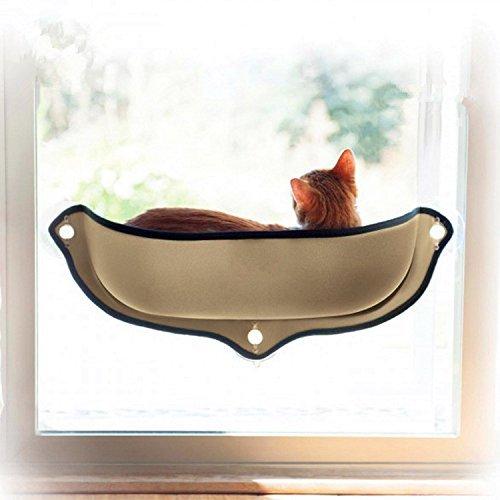 CIKA WINDOW ベッド 猫 ハンモック ペットベッド キャット用 吸盤タイプ 取り付け簡単 日光に浴びて おやす...
