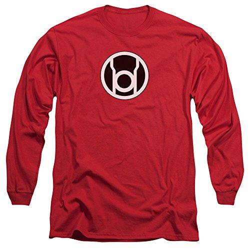 Linterna verde–para hombre Red Lantern Logo Camiseta de manga larga en color rojo Rojo rosso
